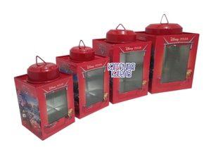 Kaleng Kerupuk Mini Karakter Cars Set, terdiri dari 4 pcs. Ukuran 6 x 8 cm, 7 x 10 cm, 9 x 12 cm dan 11 x 13 cm. Terbuat dari alumunium (anti ...